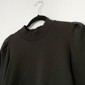 & Other Stories Black Mock Neck Sweater